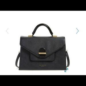 Ted Baker black leather marelda satchel